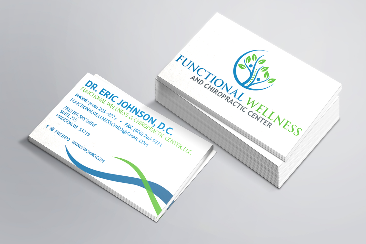 Functional Wellness Business Cards
