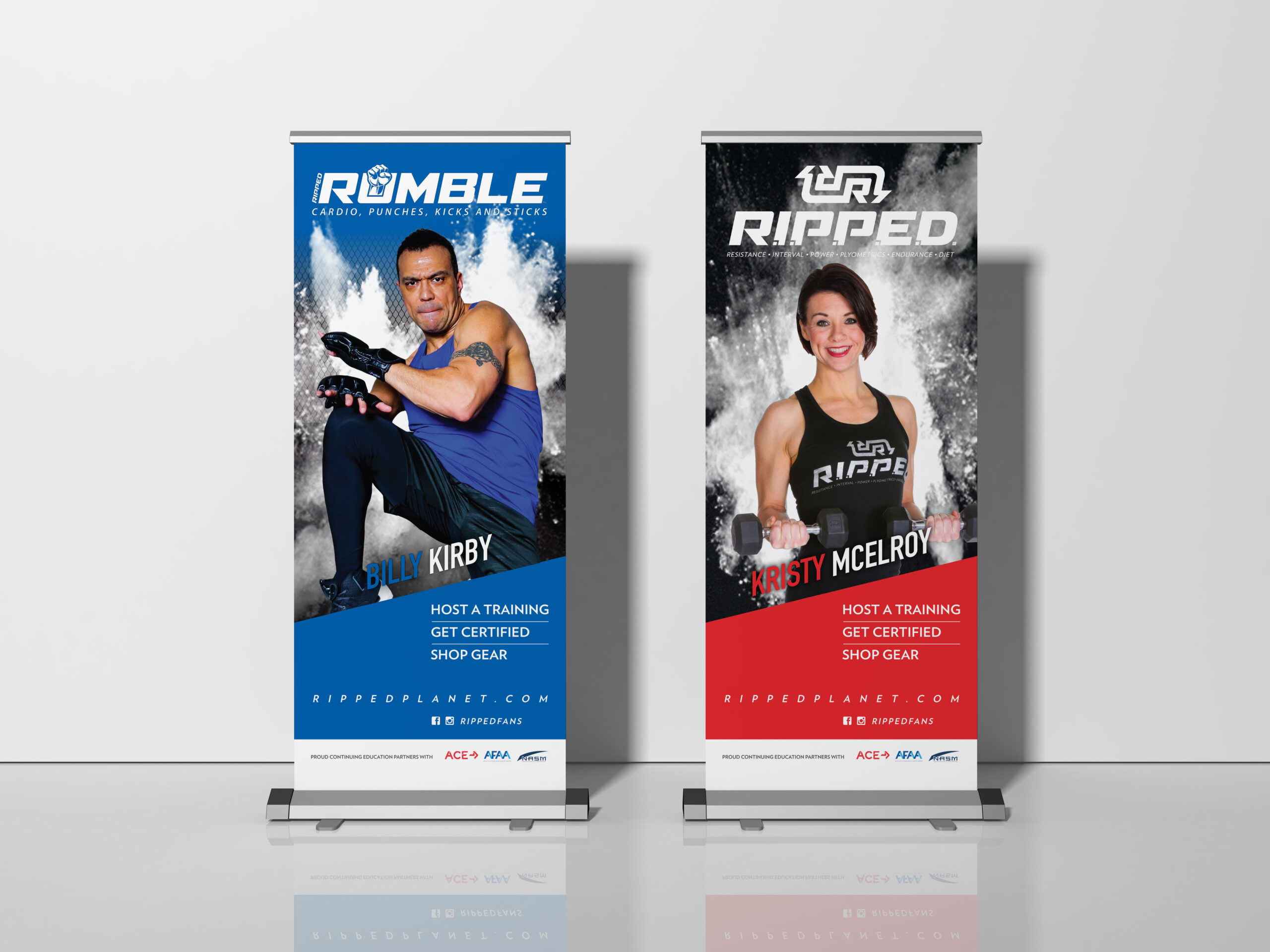R.I.P.P.E.D. and Rumble Pop-Up Banners